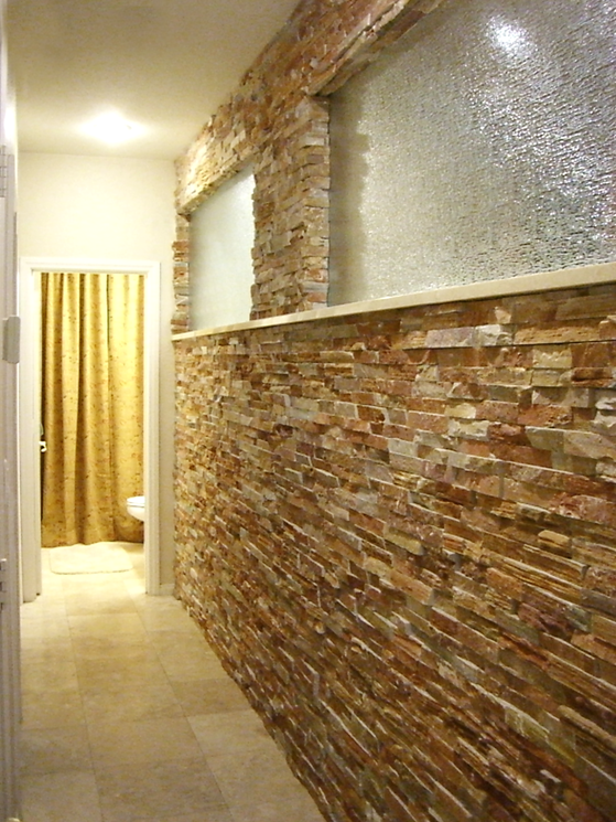 Interior Stack Stone Wall